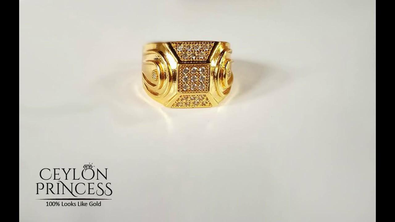 Mens Gold Ring Designs Sri Lanka, Rs 2650/= https://www.facebook ...