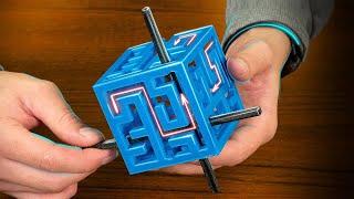 Как достать крест из куба - лабиринта без выхода? Головоломка на 3D принтере