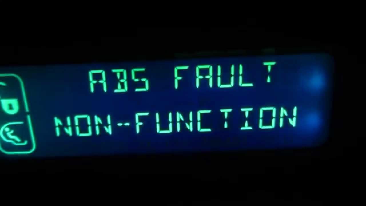 Abs Fault Non Function Xsara Picasso
