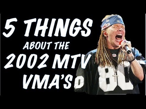 Guns N' Roses: 5 Things You Didn't Know About 2002 MTV Video Music Awards   Axl Rose!