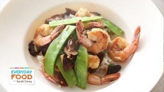 Shiitake Shrimp, And Snow Pea Stir-fry   Everyday Food With Sarah Carey