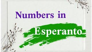numbers in Esperanto language #esperanto