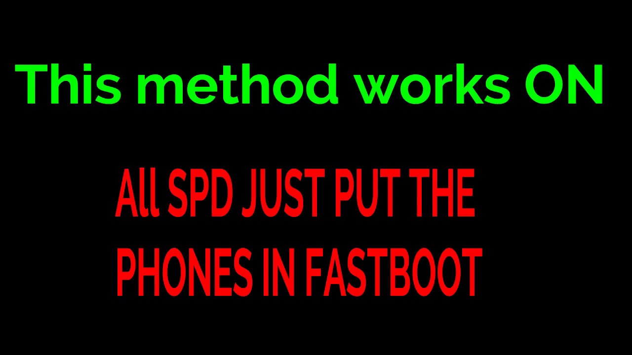 Now All SPD Frp Removed With One Click Free For All  - Thegsmsolution