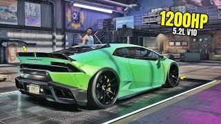 Need for Speed Heat Gameplay - 1200HP LAMBORGHINI HURACAN LIBERTY WALK Customization | Max Build 400