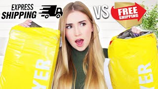 Testing EXPRESS SHIPPING VS. FREE SHIPPING From Different Brands !!