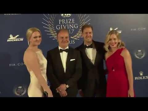 Vettel Hanna Prater Valtteri And Emilia Bottas At The Fia Prize