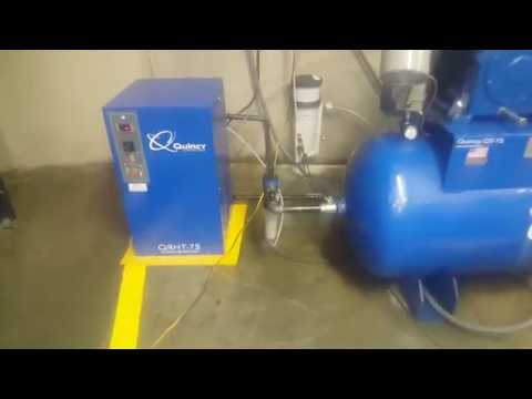 New Quincy air filters,  high temperature dryer and water oil separator