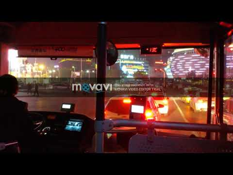 Traveling by city bus at Yichang city in China