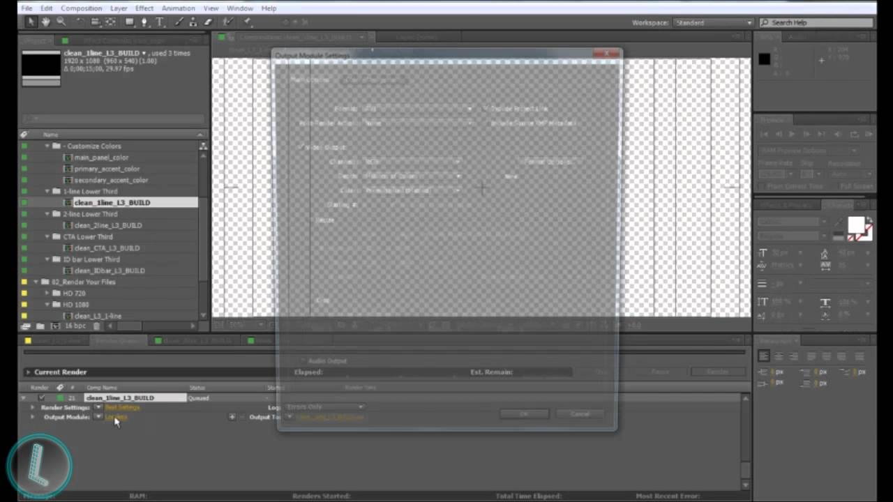 How To Render Transparent Backgrounds In After Effects