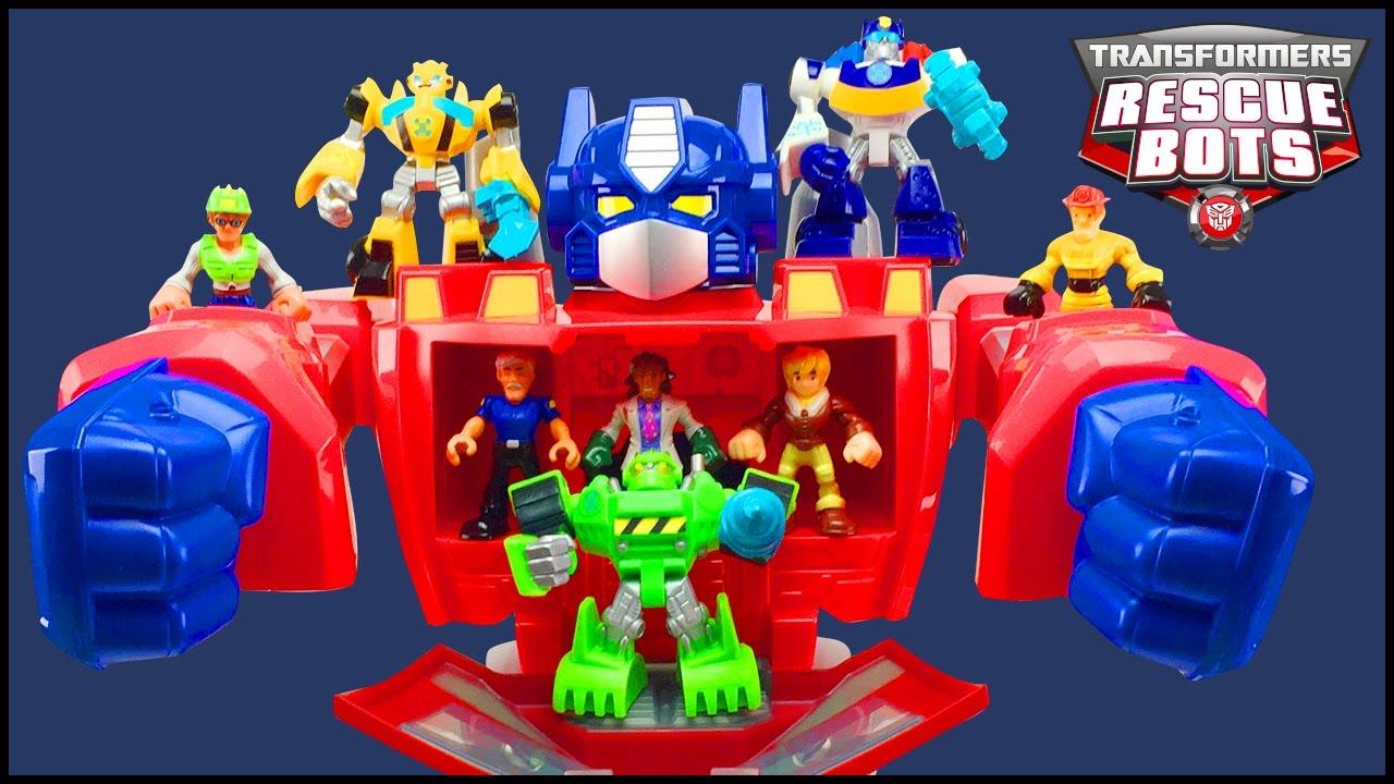 Playskool Héroes Rescue Bots De Transformers Optimus Prime Figura