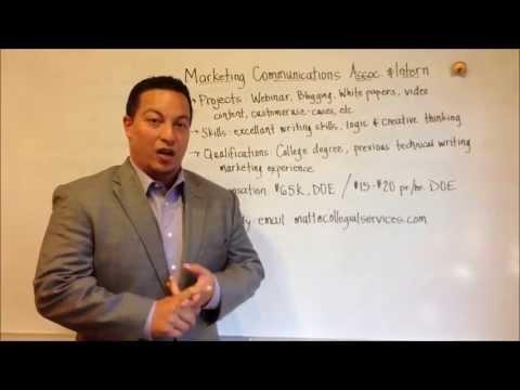 Now Hiring: Marketing Communications Associate And Intern