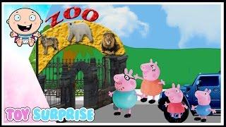 peppa en el zoologico en español | episodio de juguetes Toysurprise