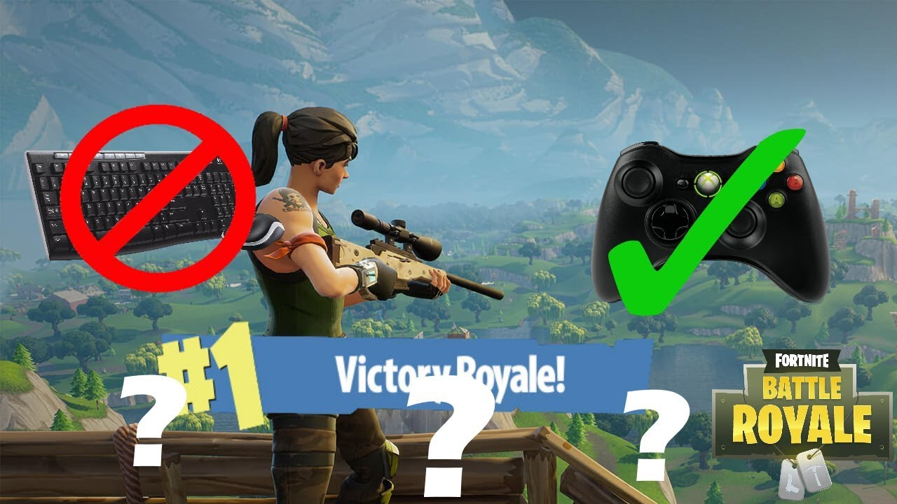 Playing Fortnite PC with an XBOX 360 CONTROLLER! (Fortnite ...