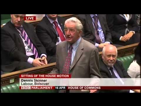 Dennis Skinner MP condemns Thatcher era