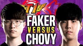 When Faker Meets Chovy in Korea SoloQ - SKT T1 Faker Aatrox vs Griffin Chovy Talon   SKT T1 Replays
