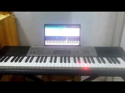Playing Chopin's impromptu fantasie op66 on synthesia and the Casio lighted keyboard LK 240