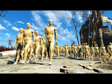 FALLOUT 4 BATTLE #13 - 20,000 Robots VS. The Commonwealth