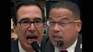Keith Ellison BRILLIANTLY DESTROYS Trump Lackey Steven Mnuchin