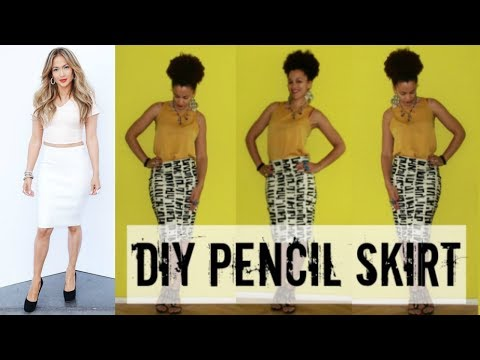 DIY PENCIL SKIRT IN 10min | JENNIFER LOPEZ INSPIRED | DIY Clothes