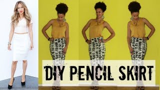 How To Make a Pencil Skirt in 10 min