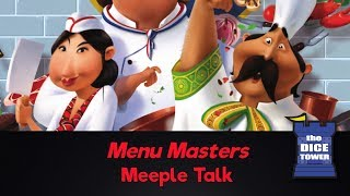 Menu Masters Review - with Meeple Talk