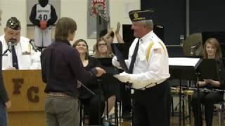 Veterans Day Program at Fountain Central High School on Nov. 9, 2018