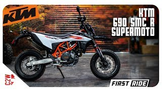 2019 ktm 690 smc r supermoto first ride