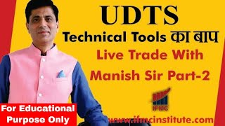 Learn Technical Analysis in simplistic way ll Live Trading Class With Manish Sir Part-2 ll