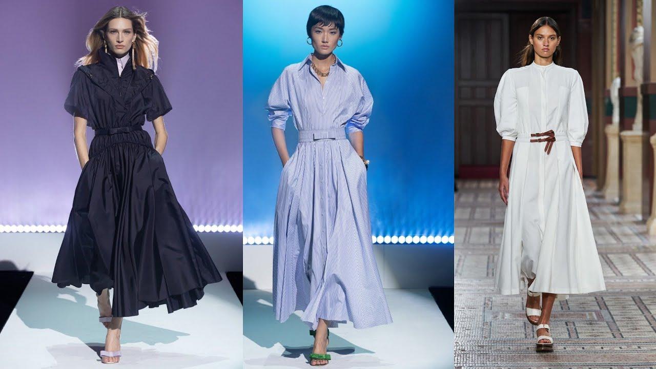 Платье-рубашки 2021: тренды фасонов и принтов, 5 способов визуального уменьшения объема талии.