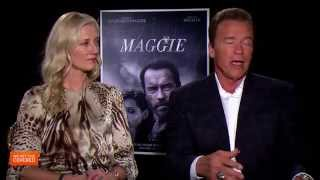 Exclusvie Interview: Arnold Schwarzenegger And Joely Richardson Talk Maggie