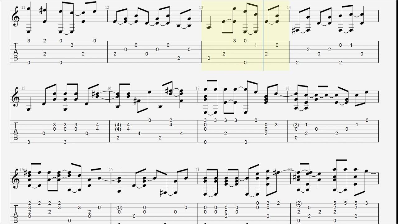 Zephyr song guitar sheet music
