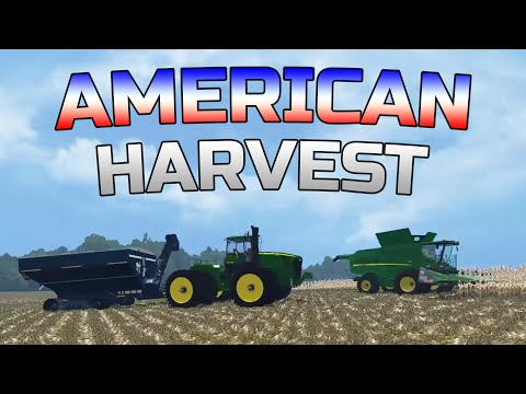Farming Simulator 2015- American Corn Harvest On Small Town Map!