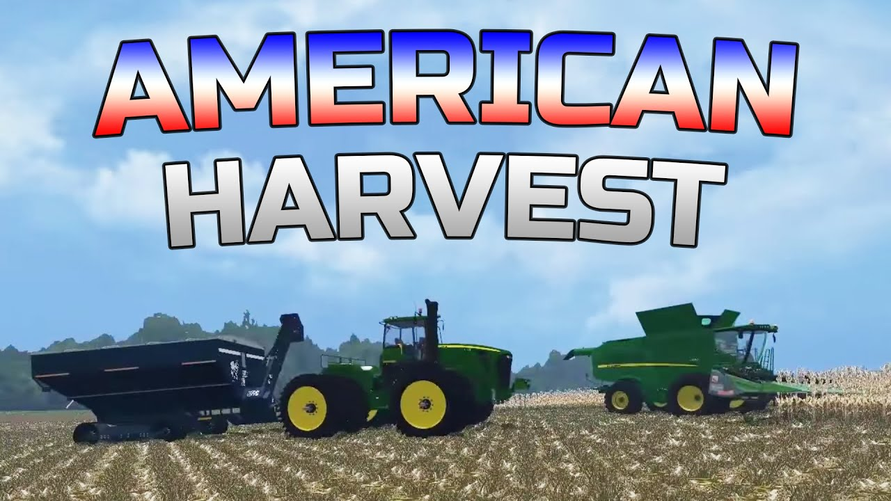 Farming Simulator American Corn Harvest On Small Town Map - Us farming map