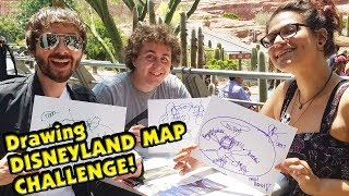 DRAWING DISNEYLAND MAP With Eyes Closed CHALLENGE featuring Fresh Baked!