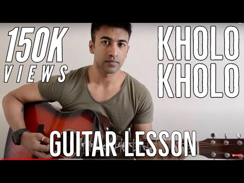 #02 - Kholo Kholo (Taare Zameen Par) - Guitar lesson - Complete and Accurate : Chords in description