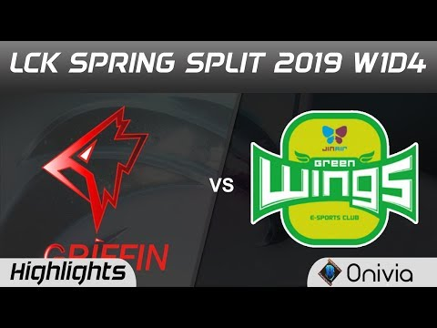 GRF vs JAG Highlights Game 1 LCK Spring 2019 W1D4 Griffin vs Jin Air Green Wing by Onivia