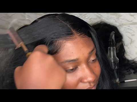 Seamless lace closure install | Plucking, baby hairs, styling