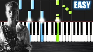 Video Justin Bieber - Purpose - EASY Piano Tutorial by PlutaX - Synthesia download MP3, 3GP, MP4, WEBM, AVI, FLV Juli 2018