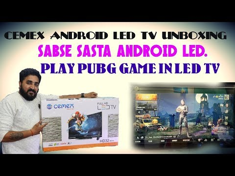 CEMEX ANDROID LED UNBOXING/SABSE SASTA LED TV/MUMBAI/MY NEW LIFESTYLE