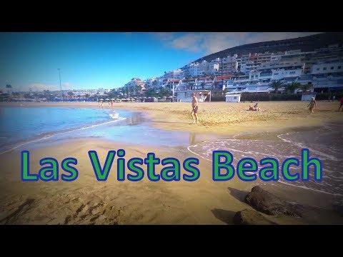 Vistas beach Tenerife Canary Islands,   - Playa de Las Vistas