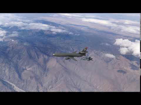 A.England Productions: F22 Aerial Refuel Animation Test