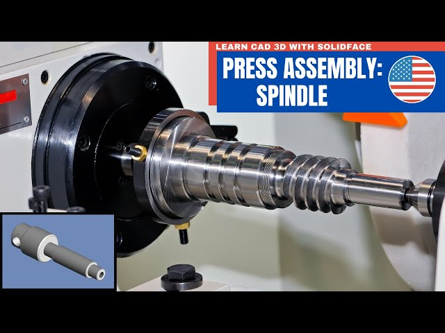 Learn CAD 3D with SolidFace - Press: Spindle