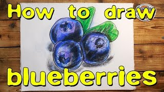 How to draw blueberries / American Pie