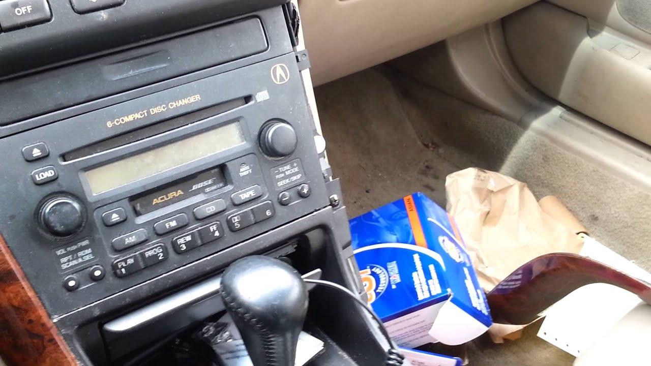 02 Acura Tl Radio Unlock Code Youtube
