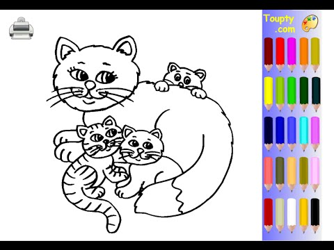 Kittens Coloring Pages For Kids Kittens Coloring Pages Youtube