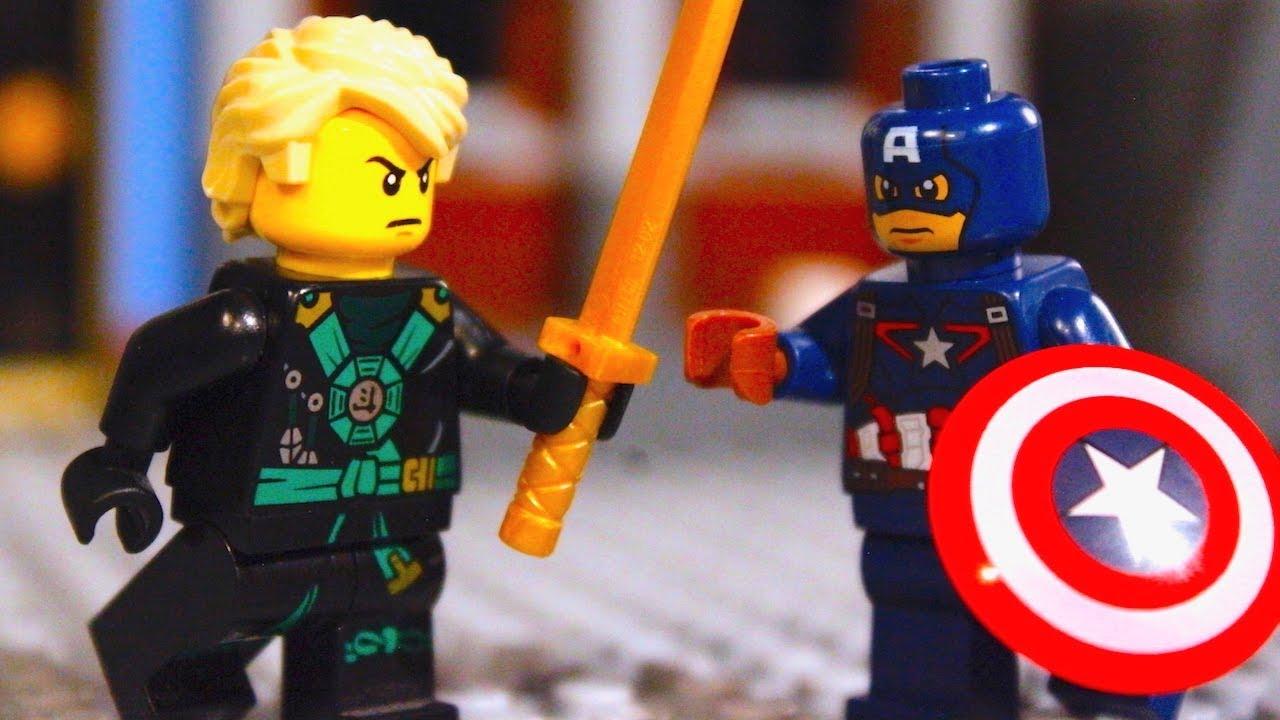 Lego ninjago lloyd garmadon vs captain america versus - Ninjago vs ninjago ...