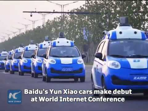 China's first driverless cars go for trial run in Wuzhen