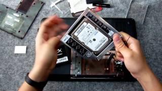 Как установить SSD вместо DVD в ноутбуке HP G6