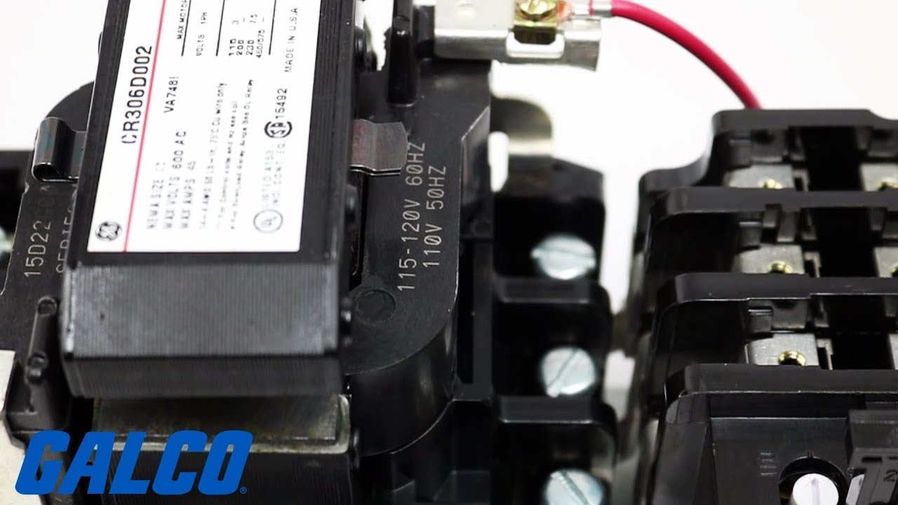 ge s cr306 series ac non reversing magnetic motor starter youtube ge motor starter wiring diagrams [ 1280 x 720 Pixel ]