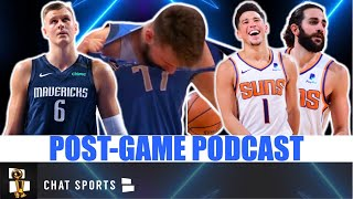 The dallas mavericks faced off against phoenix suns on sunday night. luka doncic, kristaps porzingis and were looking for their firs...